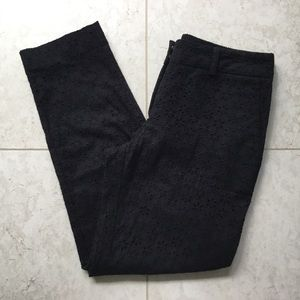 VICTORIA'S SECRET Black eyelet slim ankle pant 2